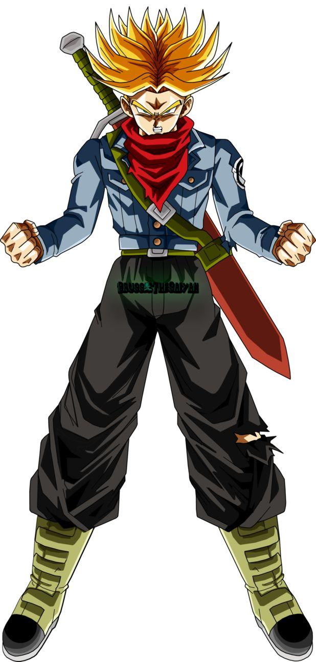 Super Saiyan Rage Trunks by BrusselTheSaiyan | Personajes ...
