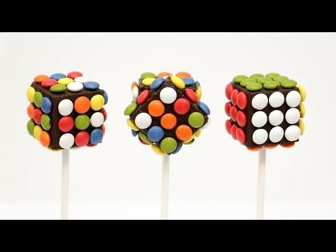 DIY-How To Make Rubik M&M´s Chocolate Pops (COOKING TOYS) - YouTube