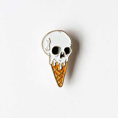 Vanilla Skull Ice Cream Waffle Cone.     //Pinned on @benitathediva, LifeSTYLE Blog