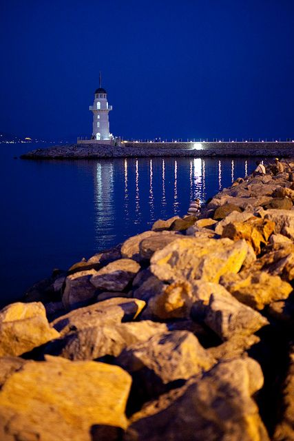 Lighthouse by maaniemi, via Flickr - Alanya South Breakwater Lighthouse, Alanya, Turkey.