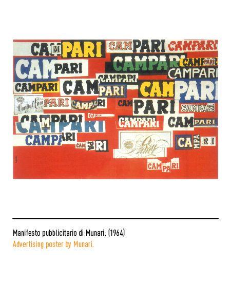 Marchio Campari - Manifesto pubblicitario di Munari 1964