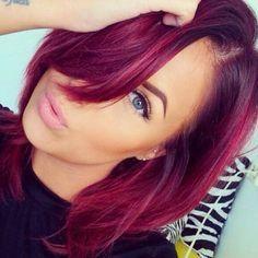 Cheveux framboise : la couleur qui cartonne en 2016 ! - Tendance coiffure