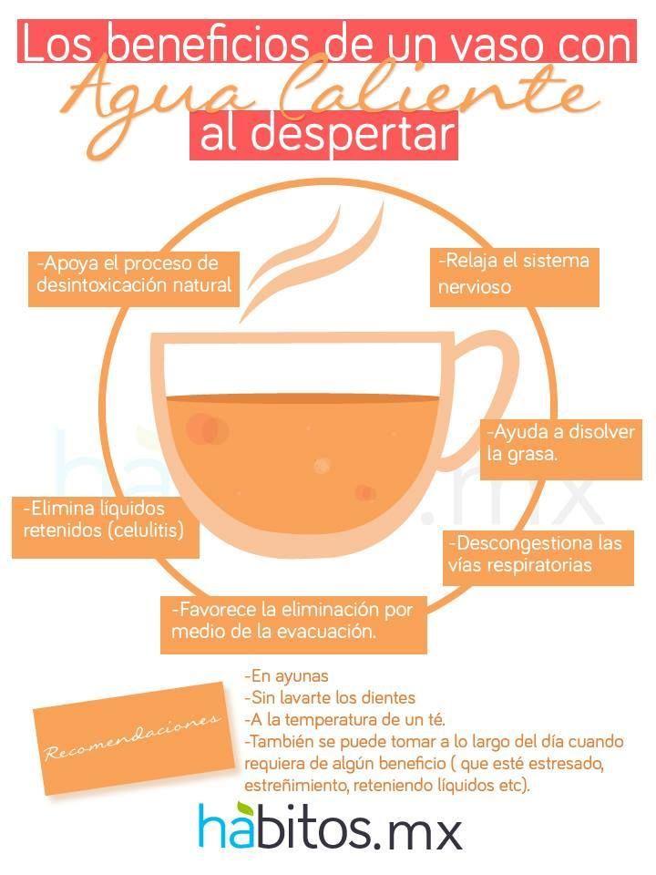 Los beneficios de un vaso de agua caliente al despertar. #hábitosmx #salud #health #hábitos