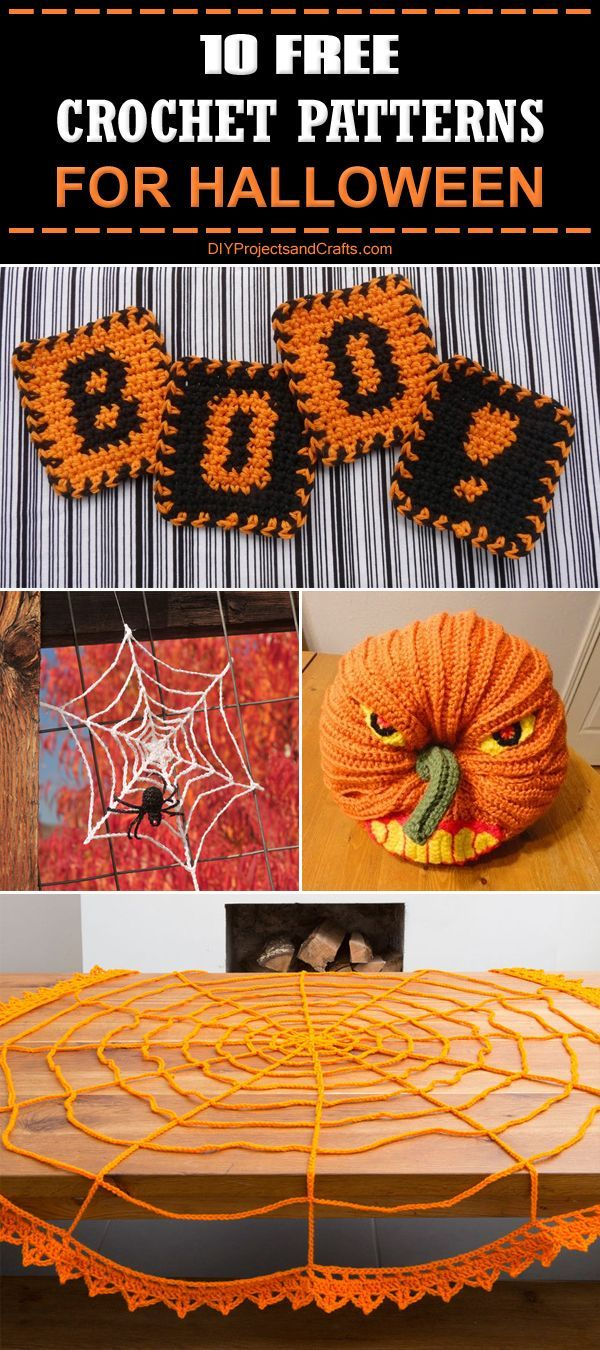 34 best Halloween images on Pinterest | Crocheting patterns, Free ...