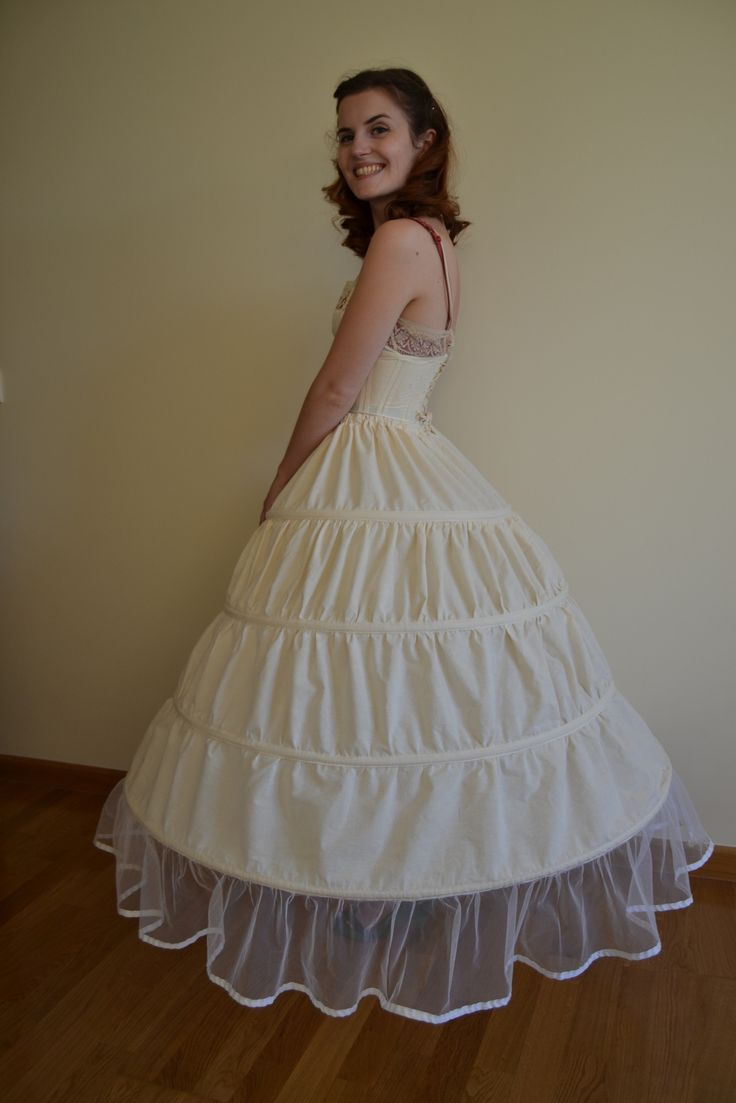 How to make a hoop skirt (crinoline) .  Free tutorial with pictures on how to make a costume in under 120 minutes by sewing and dressmaking with ribbon, plastic, and bias tape. How To posted by Pauline A.  in the Sewing section Difficulty: Simple. Cost: Cheap. Steps: 4
