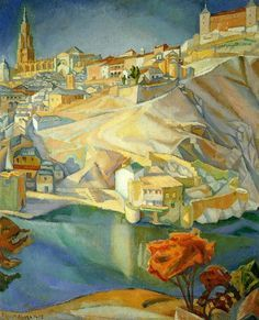 View of Toledo, 1912 is a tribute to Diego Rivera's favorite masters - El Greco…