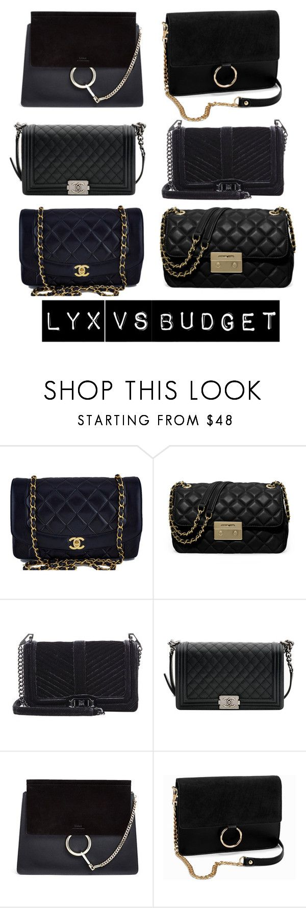 """""""Lyx VS budget"""" by majahellstrom on Polyvore featuring Chanel, MICHAEL Michael Kors, Rebecca Minkoff, Chloé and NLY Accessories"""