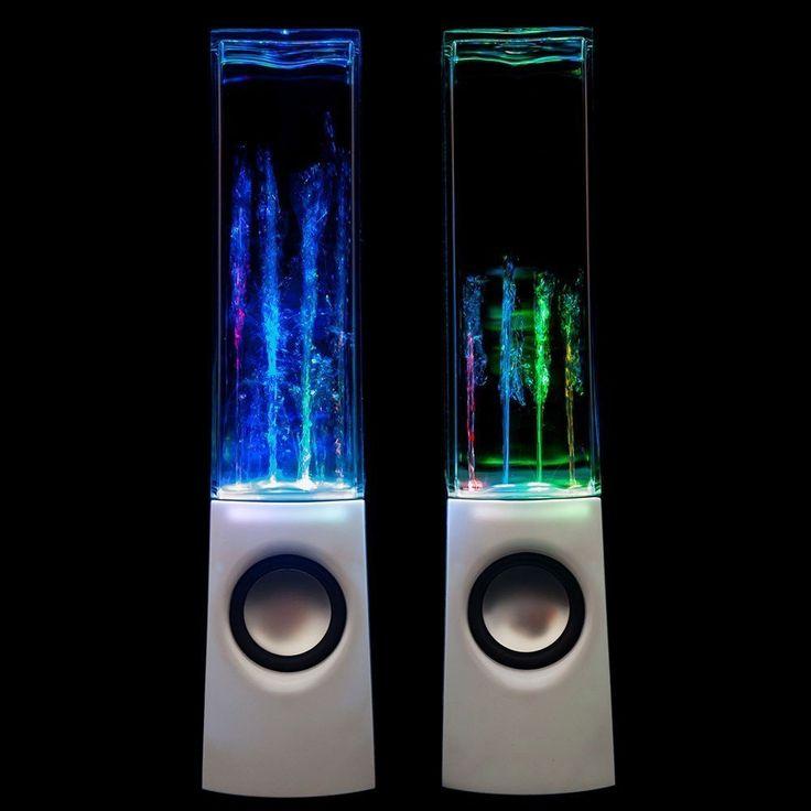 Amazon.co.jp: LEDスピーカー ダンシング ウォーター スピーカーPCスピーカー 音楽に合わせて踊る4色光と噴水スピーカー (ホワイト): 家電・カメラ