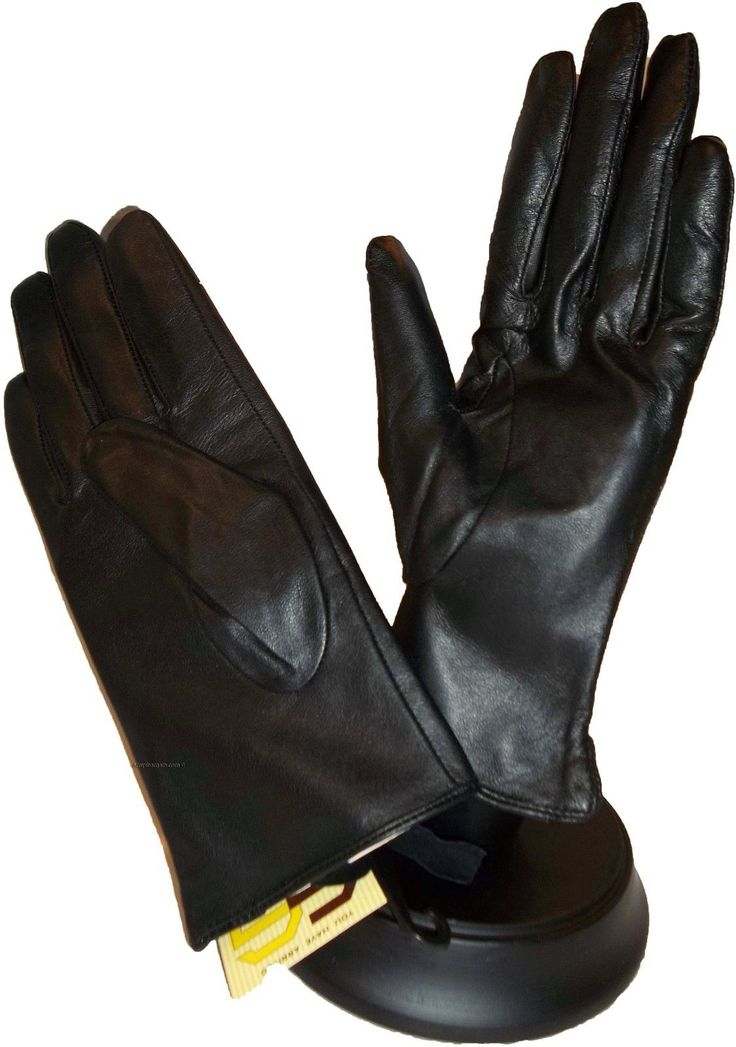 Ladies Chic Leather Winter Gloves Warm Leather Gloves Les Gants En Cuir Bn