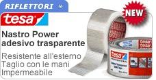 Power è il nastro adesivo in tessuto prodotto da Tesa, riparatutto. Nastro telato di qualità composto da polietilene resistente su supporto di tessuto ed adesivo, adatto alla riparazione di serre e tubature domestiche. Adatto a restare all'esterno perchè impermeabile e resistente ai raggi UV, garantito per 24 mesi.  http://www.ferramentaonline.com/shop/advanced/Nastro_adesivo_Tesa_Power_trasparente_25mt_x_48mm-ska198002984.html