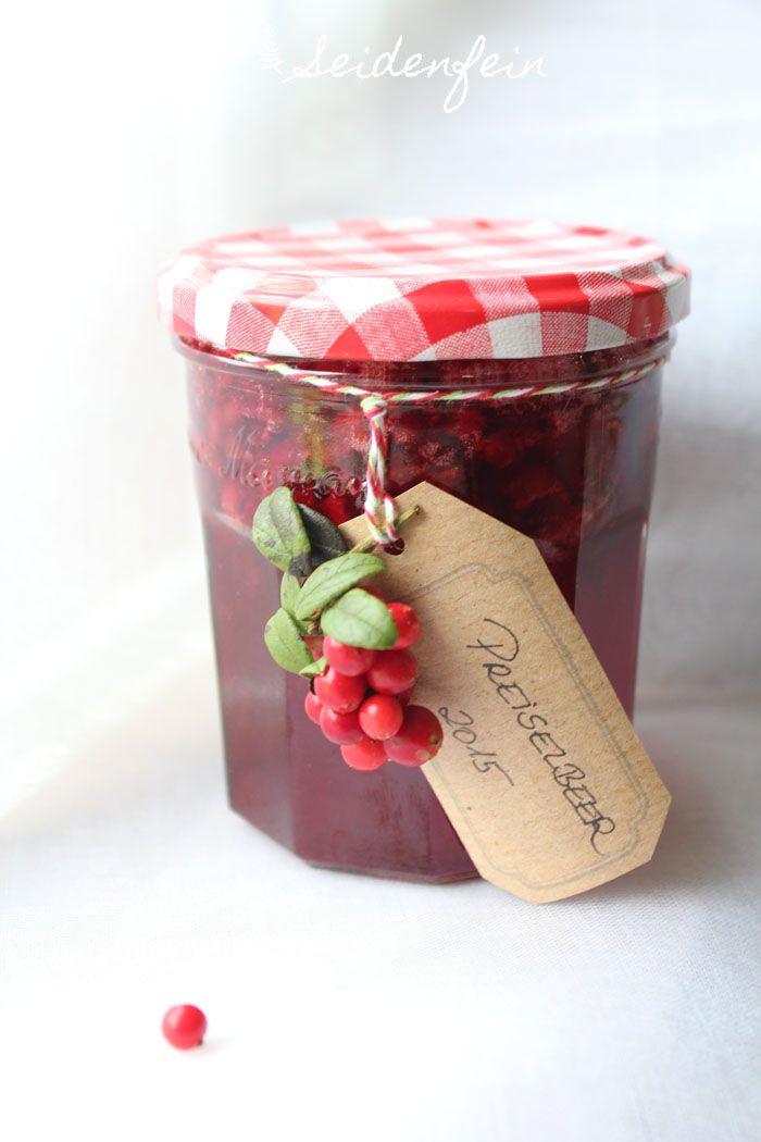seidenfeins Blog vom schönen Landleben: Preiselbeermarmelade * cranberry jam recipe