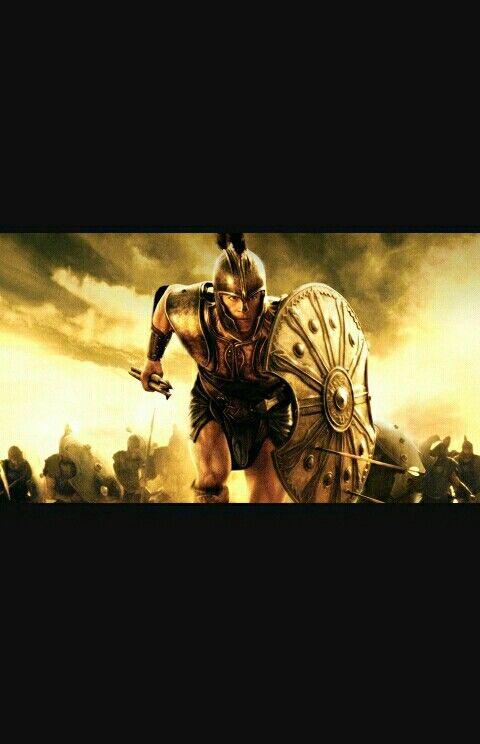 Imagen de Aquiles en el frente de la guerra de Troya, en la que fue asesinado por una flecha lanzada por el príncipe troyano Paris, se clavó en su talón, su único punto débil. El talón de Aquiles recibe ese nombre por este héroe