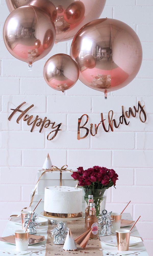 BALLOON FANTASY PARTYBOUTIQUE - Have a ROSEGOLD Party! Clean, minimalistisch und im Bloggerstyle, aber vor allem ganz einfach umzusetzen mit der Party-Box und weiteren Lieblingsprodukten deiner Wahl in Rosegold! #rosegold #partyinabox #geburtstag #birthday #partydeko #deko #ichliebedeko #diy #rose #blush #kupfer #liebe #blogger #bloggerstyle #modern #minimal