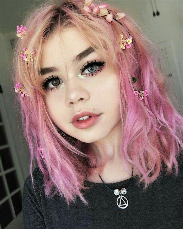 Nice Girl Edgy Hair Color Hair Styles Aesthetic Hair