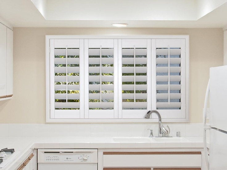 The 25 best plantation shutters cost ideas on pinterest plantation decor blinds for kitchen for Window shutters interior prices