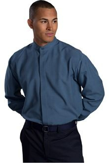 Men's Extreme Restaurant Banded Collar Shirt – ShaperUniforms.com