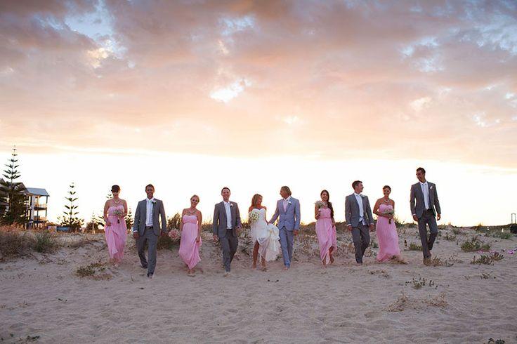 Mandurah Wedding Venue - sunset beach photos #wedding #mandurah #mofsc #events #venue #reception #bridesmaids #groomsmen #sallyhicksphotography www.mofscevents.com.au