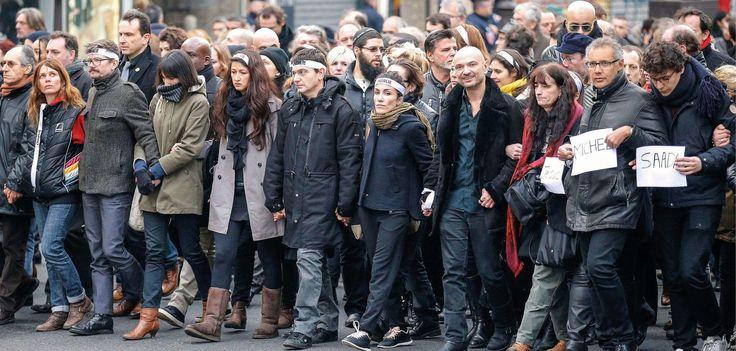 Le 11 janvier 2015, la marche en hommage aux victimes des attentats de Charlie et de l'Hyper Cacher.