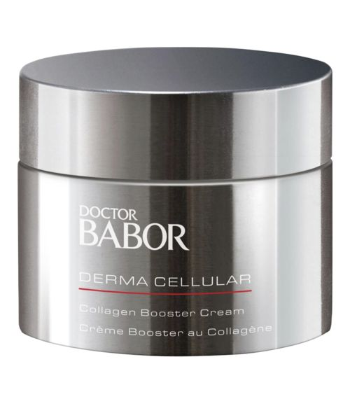 The alternative to anti-wrinkle injections. Restructures the skin and plumps it up intensively from the inside. Reduces fine lines and wrinkles and inhibits the degradation of collagen fibers. Contains a hyaluronic acid complex, marine collagen and Collagen Booster Protein. 50ml Facial cream to restructure and lift the skin from the inside The researchers at Dr. Babor developed Collagen Booster Cream as an effective alternative to facial injections. A highly effective #hyaluronicAcid #cream.