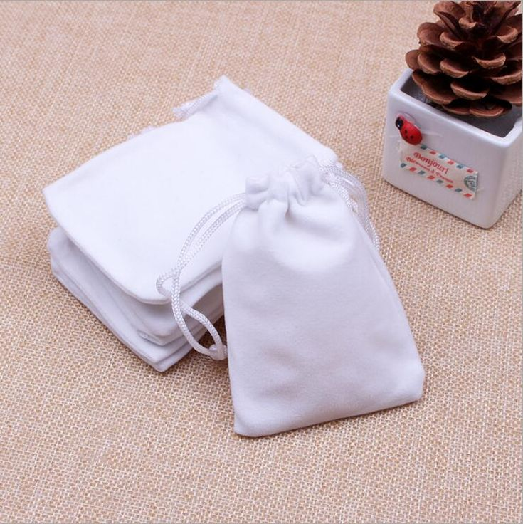 Wholesale 7x9cm Drawstring Black/Blue/Red/Wine Red Velvet Bags Pouches Jewelry Bag Wedding Decoration Gift Bags 100pcs/lo
