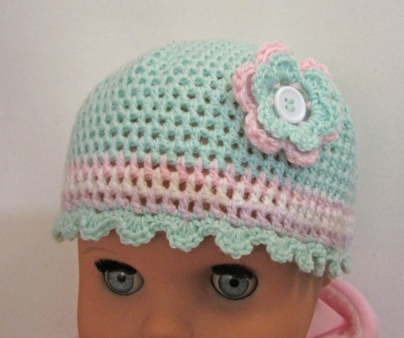Baby Hat Mittens Crochet  hat and gloves 912 months by ShopF4m, $20.00
