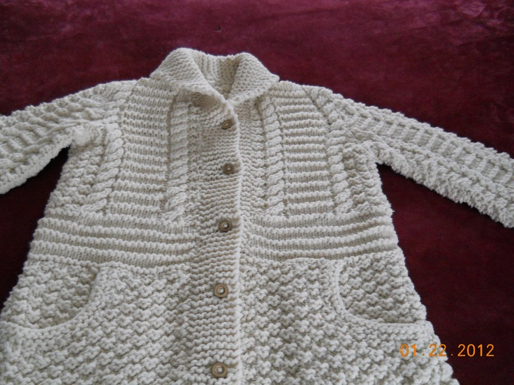 Cowl Fold Down Neck Cardigan Sweater With Pockets by patgullion.