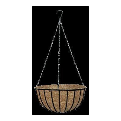 Gardman R409 16-Inch Black Traditional Hanging Basket and Liner by Gardman. $17.24. Traditional hanging basket. 16-Inch. Black. Pre-attached 22-Inch plastic coated steel chains included. Pre-formed molded coco fiber liners are secured to the basket. Gardman usa r409 16-inch black traditional hanging basket and liner. Save 14%!