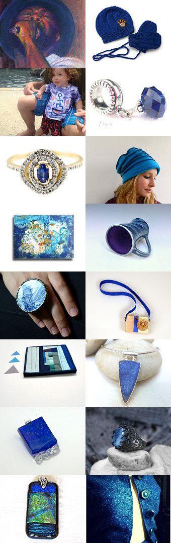 Gift ideas Indigo ¸•`¯¨˜'*•~-.ஐ .ஐ by Nancy Ottati from RevesCreazioni on Etsy--Pinned with TreasuryPin.com