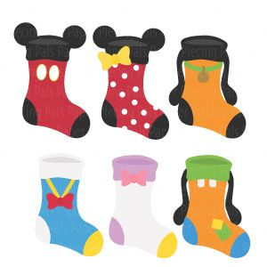 Magical Stockings SVG cut file Disney #SVGfile #Disney #paperpiecingpals