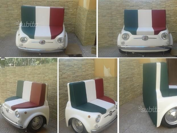 Divano FIAT 500 con fari illuminabili in metallo - Arredamento e Casalinghi In vendita a Napoli