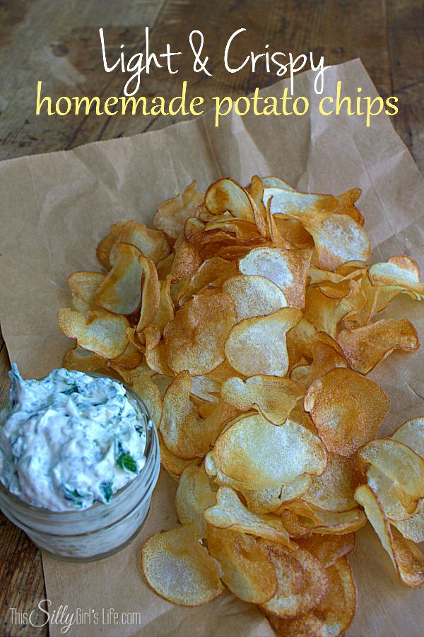 Light and Crispy Homemade Potato Chips - This Silly Girl's Life