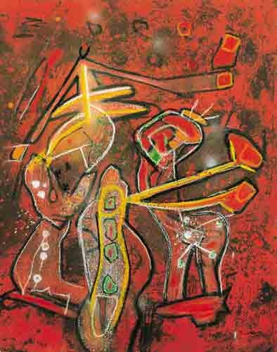 """Melodia-Melodio"", by Roberto Matta (1995)  Discover the coolest shows in New York at www.artexperience.com"