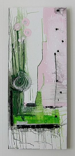 Art/Konst. Acrylic on canvas/Akryl på duk. 100 x 40 cm. By Camilla Nilsson, Camilla Nilsson Design.