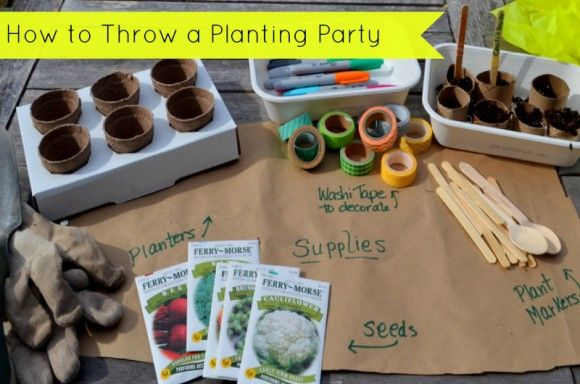 Learn how to throw your own mini planting party! #spring #gardening #budget