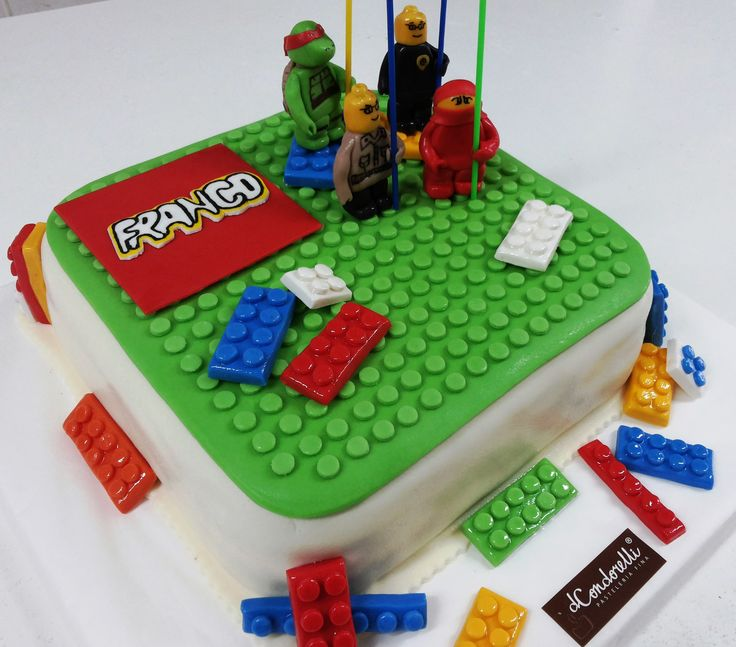 "Torta para Niños ""Lego"" de Pastelería dCondorelli - www.dcondorelli.cl - Santiago, Chile"