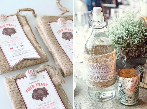 1000 images about decorating with burlap on pinterest Burlap bag decorating ideas
