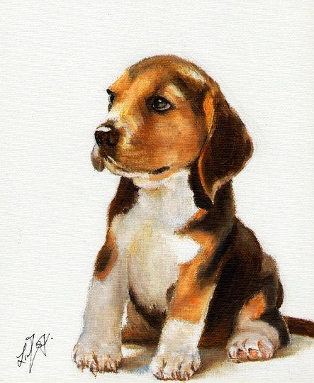 love this beagle art at etsy shop ninistores