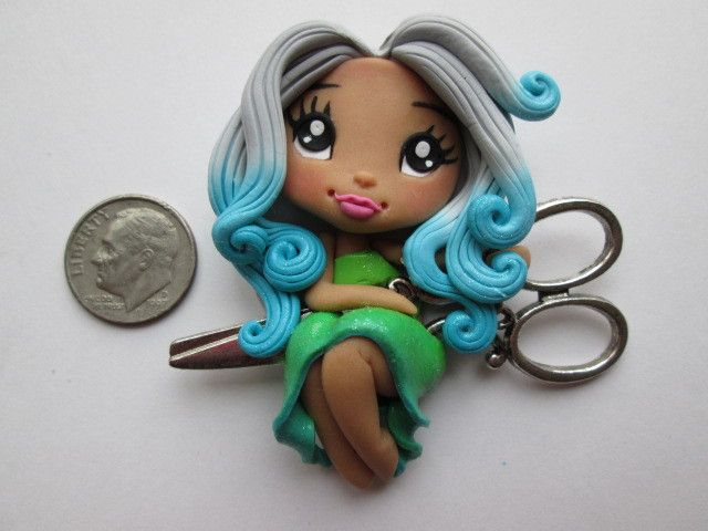 Needle Minder ~ Scissors Girl #12 (ONE OF A KIND!)