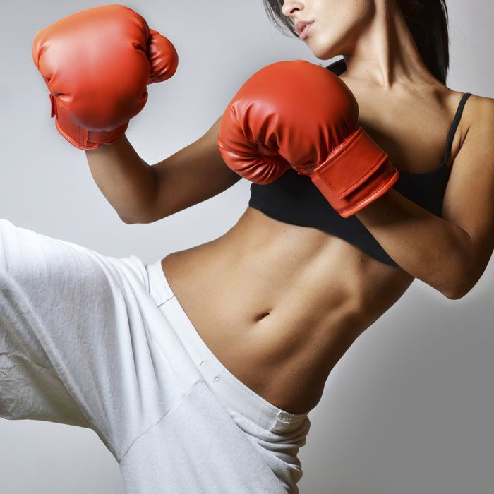 Kickboxing for Killer Abs - Unleash your fierce side as you punch and kick away flab to unveil a flat stomach.