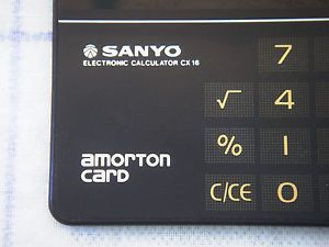 >>> SANYO CX-16 Solar Calculator, Vintage <<<