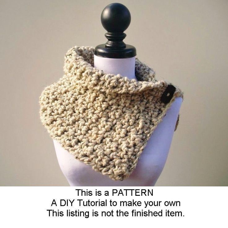Crochet Pattern - Crochet Cowl Scarf - The Lucienne Cowl - Black Friday Etsy Cyber Monday Etsy. $3.00, via Etsy.