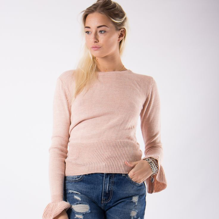 Sweater with flounce cuff - You Decide