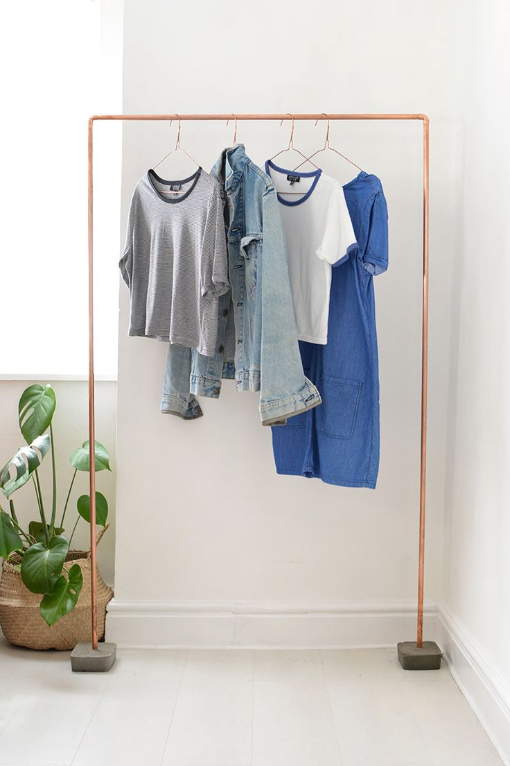 DIY | copper clothes rail @burkatron