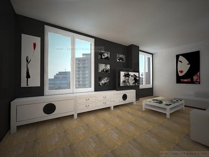 Habitacion y sala al estilo oriental