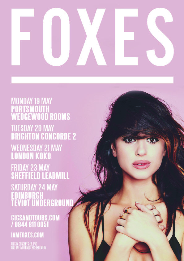 Following her phenomenal GRAMMY WINNING success and a sell out Brighton show already under her belt this year, we are very pleased to announce FOXES will be returning to #Brighton at #Concorde2 on Tuesday 20th May. #Tickets will no doubt fly out for this show, so if you are planning on coming along don't hang about - CLICK THE IMAGE TO BUY NOW!