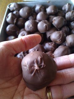 Chocolate Covered Peanut Butter Ball Recipe ~ Be warned, these are the tastiest, yummiest things ever. Seriously. Overwhelming delicious!