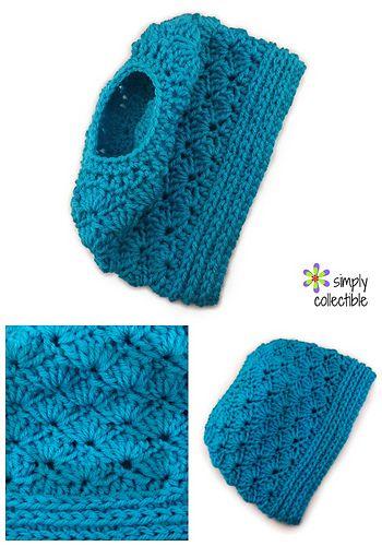 Seashore Messy Bun Hat crochet pattern is FREE - http://simplycollectiblecrochet.com/2016/12/seashore-mess...