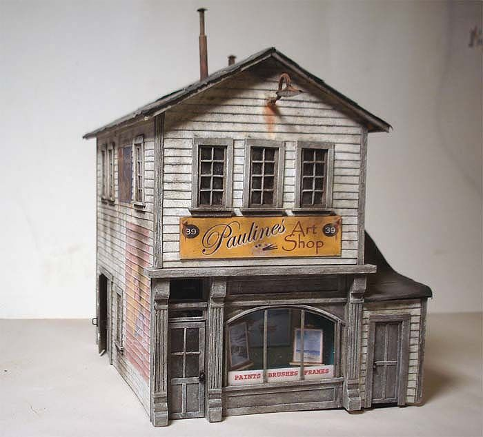 image relating to Ho Scale Buildings Free Printable Plans named Miniature Dollhouse Planning Packages - WoodWorking Jobs