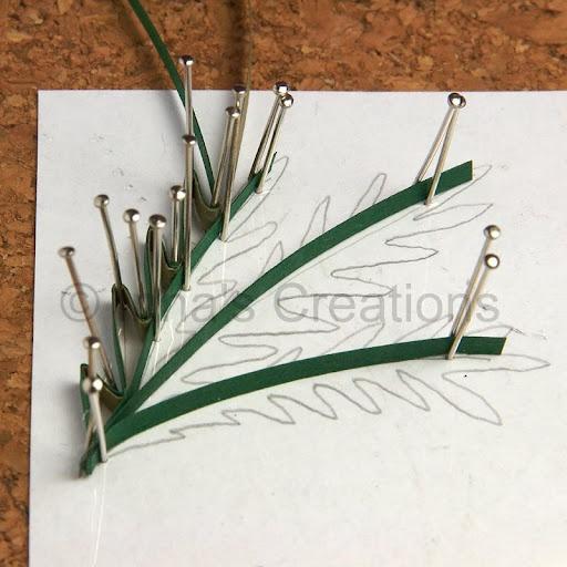 Making foliage (husking), step 2