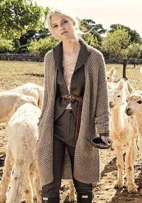 a8d52f97315a5c #Kostenlose Anleitung für einen Oversized Cardigan mit Taschen, Jacke  stricken / #freeknittingpattern for an oversized cardigan, fall fashion via  ...